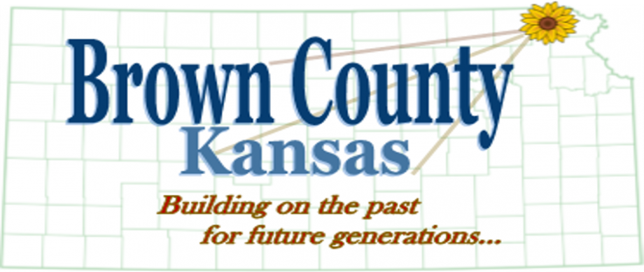 Kansas map of counties with Brown County Kansas