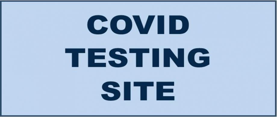COVID TESTING SITE IN BLUE BOX