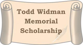 Scroll with the words Todd Widman Memorial Scholarship
